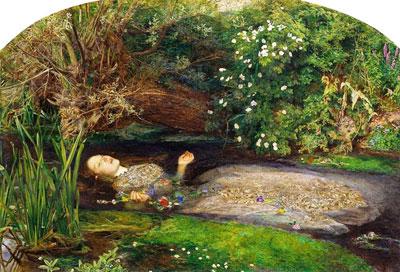 Ophelia, de John Everett Millais, 1851-1852.