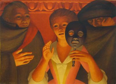 Un ballo in maschera, 1983. George Tooker.